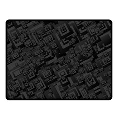 Black Rectangle Wallpaper Grey Double Sided Fleece Blanket (small)