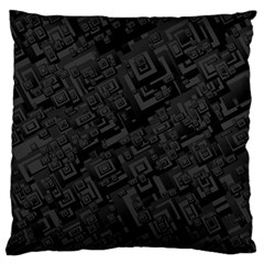 Black Rectangle Wallpaper Grey Large Flano Cushion Case (one Side)