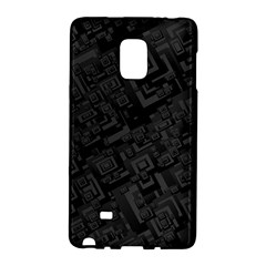 Black Rectangle Wallpaper Grey Samsung Galaxy Note Edge Hardshell Case