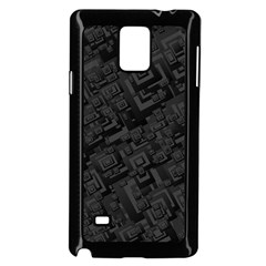 Black Rectangle Wallpaper Grey Samsung Galaxy Note 4 Case (black)