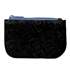 Black Rectangle Wallpaper Grey Large Coin Purse