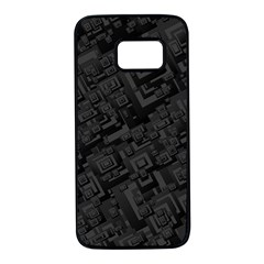 Black Rectangle Wallpaper Grey Samsung Galaxy S7 Black Seamless Case