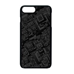 Black Rectangle Wallpaper Grey Apple Iphone 7 Plus Seamless Case (black)