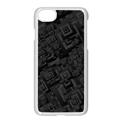 Black Rectangle Wallpaper Grey Apple Iphone 8 Seamless Case (white)
