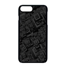 Black Rectangle Wallpaper Grey Apple Iphone 8 Plus Seamless Case (black)