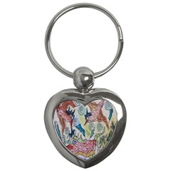Watercolor Postcard2 Key Chains (heart)