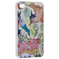 Watercolor Postcard2 Apple Iphone 4/4s Seamless Case (white)