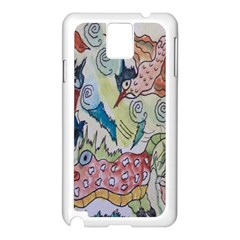 Watercolor Postcard2 Samsung Galaxy Note 3 N9005 Case (white)