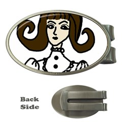 Girl With Dress Money Clips (oval)