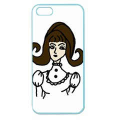 Girl With Dress Apple Seamless Iphone 5 Case (color)