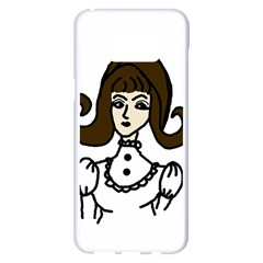 Girl With Dress Samsung Galaxy S8 Plus White Seamless Case
