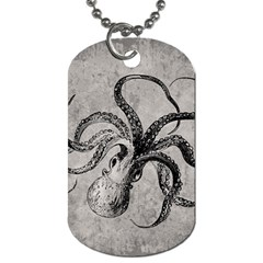 Vintage Octopus  Dog Tag (two Sides) by Valentinaart