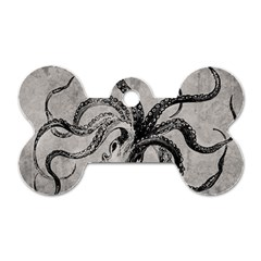 Vintage Octopus  Dog Tag Bone (one Side) by Valentinaart