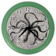 Vintage Octopus  Color Wall Clock