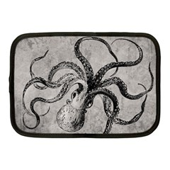 Vintage Octopus  Netbook Case (medium) by Valentinaart