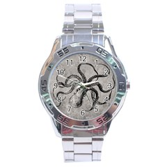 Vintage Octopus  Stainless Steel Analogue Watch by Valentinaart