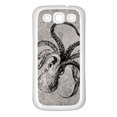Vintage Octopus  Samsung Galaxy S3 Back Case (white) by Valentinaart