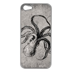 Vintage Octopus  Apple Iphone 5 Case (silver)