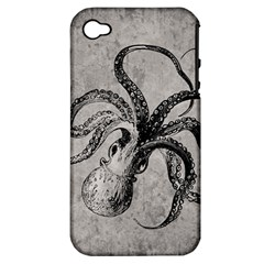 Vintage Octopus  Apple Iphone 4/4s Hardshell Case (pc+silicone)