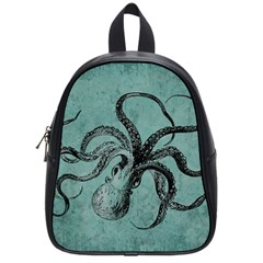Vintage Octopus  School Bag (small) by Valentinaart
