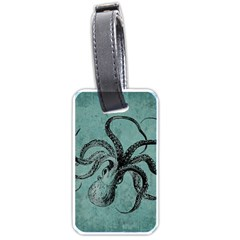 Vintage Octopus  Luggage Tags (one Side)  by Valentinaart