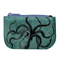 Vintage Octopus  Large Coin Purse by Valentinaart