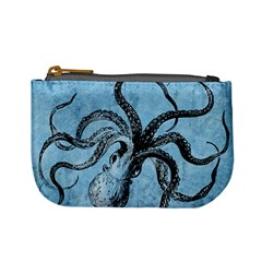 Vintage Octopus  Mini Coin Purse by Valentinaart