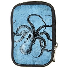 Vintage Octopus  Compact Camera Leather Case