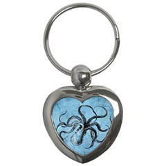 Vintage Octopus  Key Chains (heart)