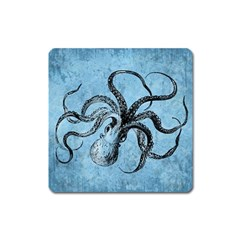 Vintage Octopus  Square Magnet by Valentinaart