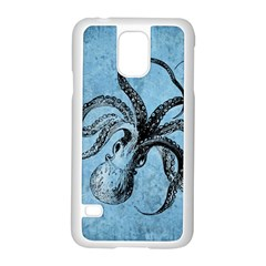 Vintage Octopus  Samsung Galaxy S5 Case (white) by Valentinaart