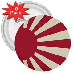Rising Sun Flag 3  Buttons (10 Pack)  by Valentinaart