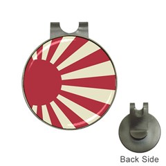 Rising Sun Flag Hat Clips With Golf Markers