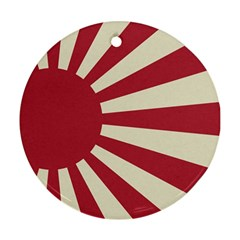 Rising Sun Flag Round Ornament (two Sides)