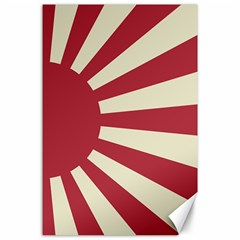 Rising Sun Flag Canvas 24  X 36