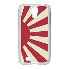 Rising Sun Flag Samsung Galaxy S4 I9500/ I9505 Case (white) by Valentinaart