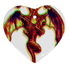 Demon Heart Ornament (two Sides) by ShamanSociety