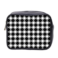 Square Diagonal Pattern Seamless Mini Toiletries Bag (two Sides)