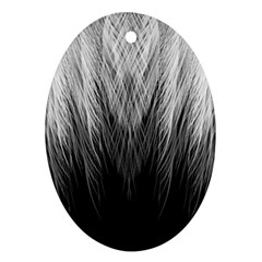 Feather Graphic Design Background Ornament (oval)