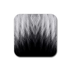 Feather Graphic Design Background Rubber Coaster (square)