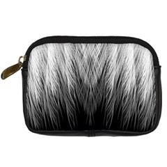 Feather Graphic Design Background Digital Camera Leather Case