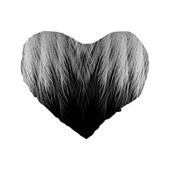 Feather Graphic Design Background Standard 16  Premium Heart Shape Cushions by Nexatart