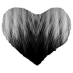 Feather Graphic Design Background Large 19  Premium Flano Heart Shape Cushions by Nexatart