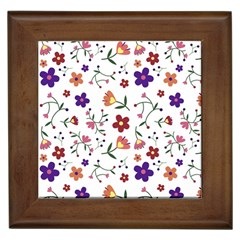 Flowers Pattern Texture Nature Framed Tiles