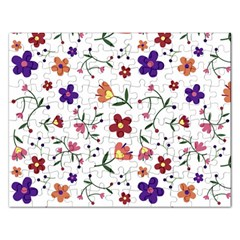 Flowers Pattern Texture Nature Rectangular Jigsaw Puzzl