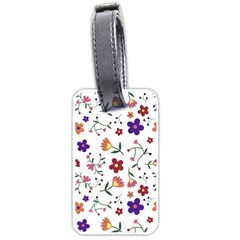 Flowers Pattern Texture Nature Luggage Tags (one Side)