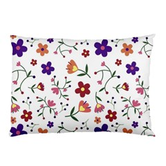 Flowers Pattern Texture Nature Pillow Case (two Sides)