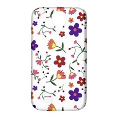 Flowers Pattern Texture Nature Samsung Galaxy S4 Classic Hardshell Case (pc+silicone)