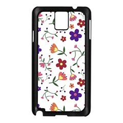 Flowers Pattern Texture Nature Samsung Galaxy Note 3 N9005 Case (black)