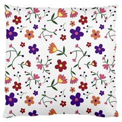 Flowers Pattern Texture Nature Large Flano Cushion Case (two Sides)